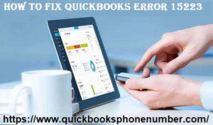 Fix QuickBooks Error 15223
