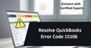 Resolve QuickBooks Error Code 15106