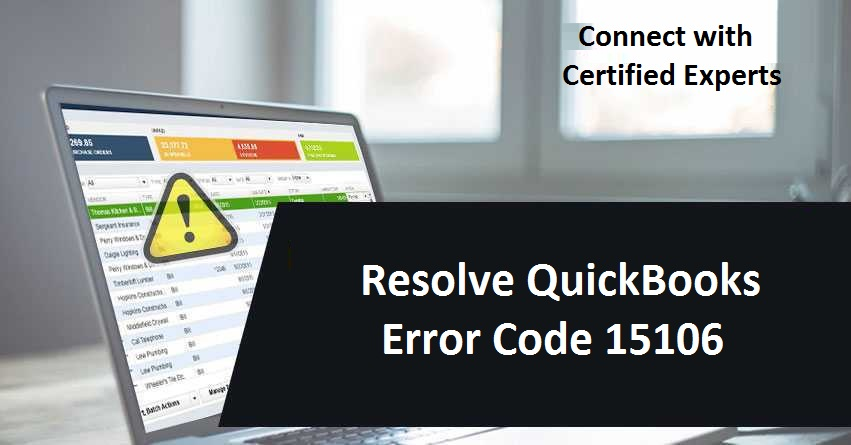 Resolve QuickBooks Error Code 15106