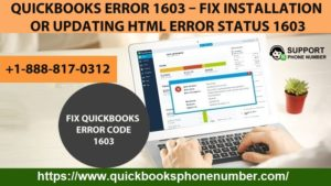 Fix QuickBooks Error 1603