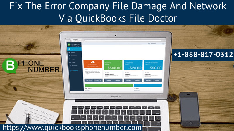 The Error Company File Damage And Network Via QuickBooks