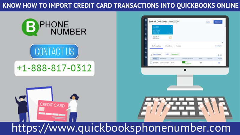 Know How To Import Credit Card Transactions Into QuickBooks
