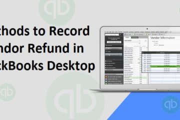 Record Vendor Refund in QuickBooks Desktop