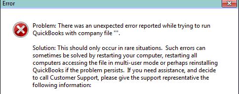 Symptoms of QuickBooks error 3371