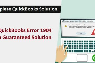 Fix QuickBooks Error 1904