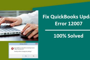 Fix QuickBooks Update Error 12007
