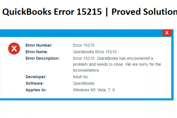 Fix QuickBooks Error 15215