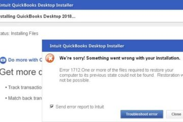 Remove QuickBooks Error 1712