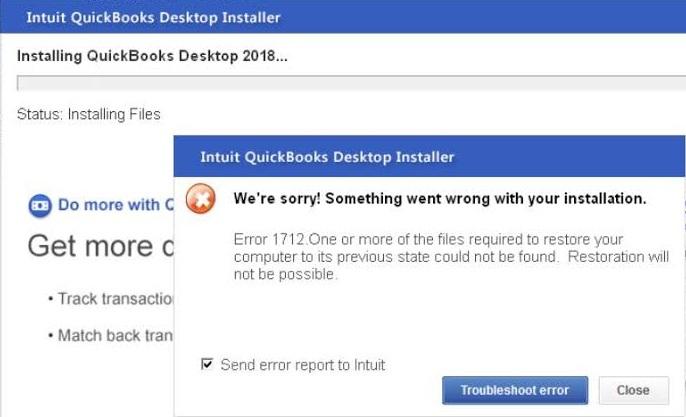 Remove QuickBooks Error 1712