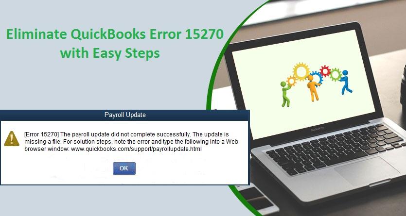 Eliminate QuickBooks Error 15270