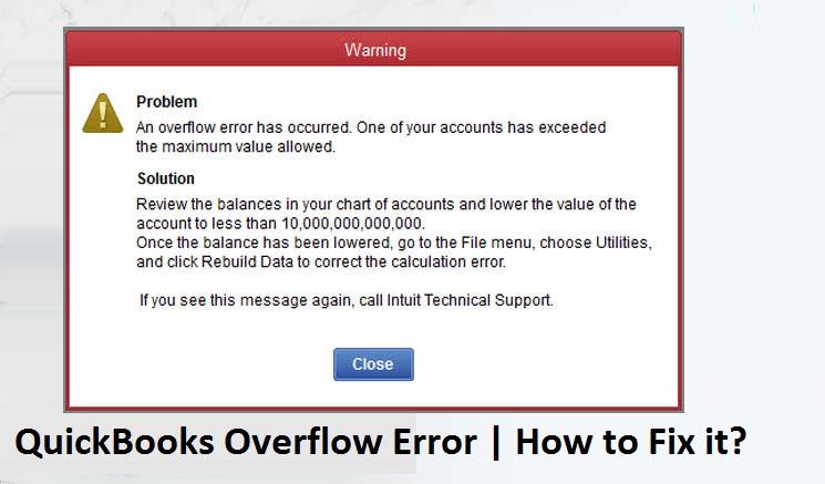 QuickBooks-Overflow-Error