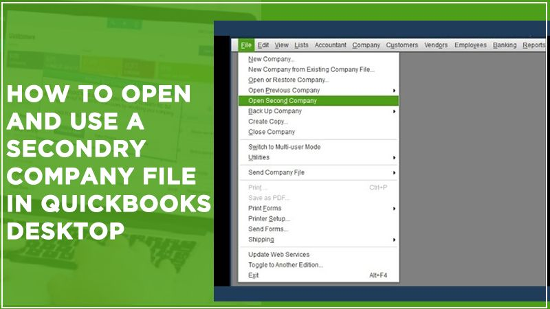 Open and use a secondary company file
