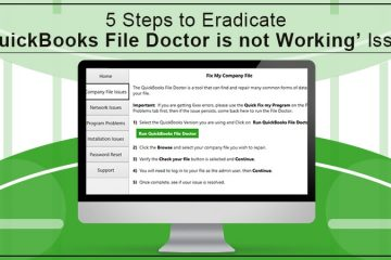 QuickBooks File Doctor is not Working